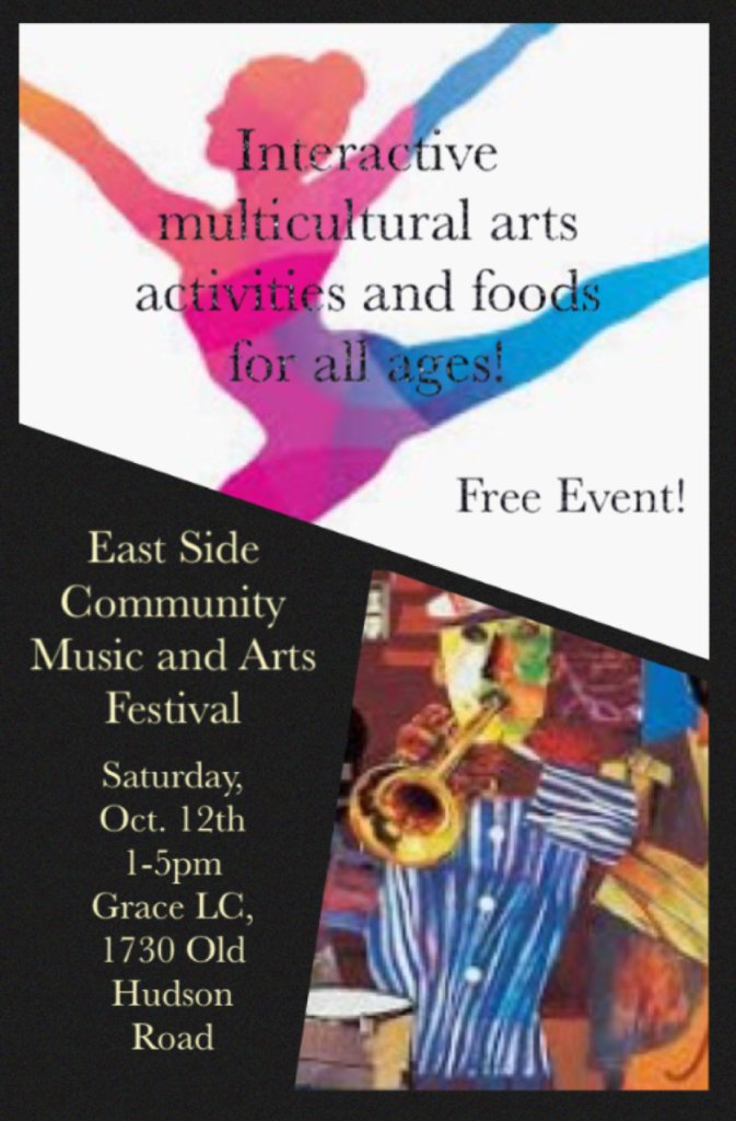 Interactive Multi-Cultural Art Fair on October 12. 1pm to 5pm at Grace Lutheran Church